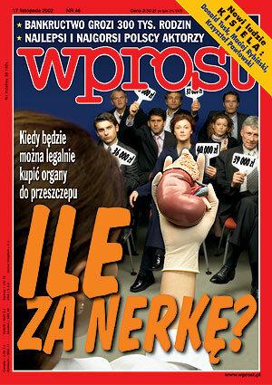 Okładka tygodnika Wprost nr 46/2002 (1042)