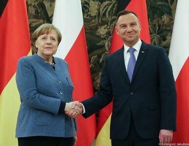 """Prezydent Andrzej Duda spotkał się z kanclerz Angelą Merkel. """"To była..."""