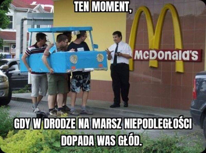 Mem nawiązujący do Marszu Niepodległości