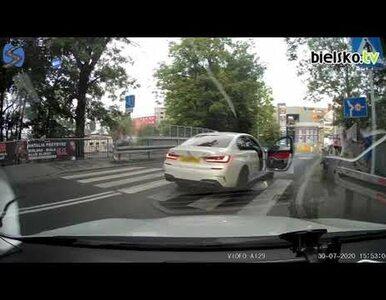 Bielsko-Biała. Kierowca BMW pobił przechodnia, którego mało co nie potrącił