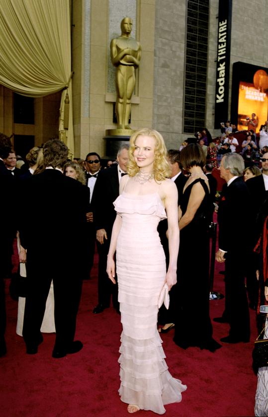 Nicole Kidman podczas 74. ceremonii rozdania Oscarów w 2002 roku