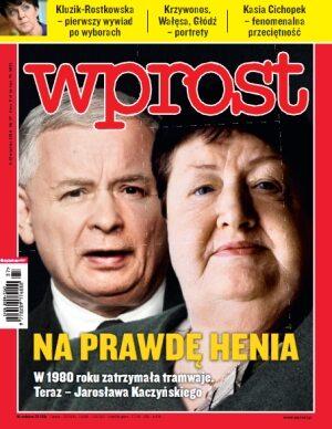 Okładka tygodnika Wprost nr 37/2010 (1440)