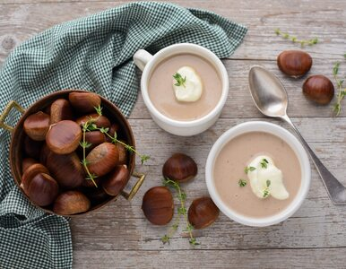 Iście jesienne danie: zupa krem z kasztanów z mlekiem kokosowym
