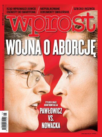 Okładka tygodnika Wprost nr 15/2016 (1732)