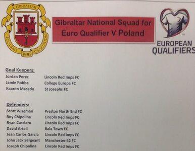 Gibraltar podał skład na Polskę. Niektórzy nie mają klubu