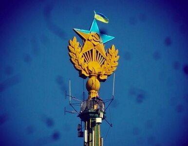 """""""Ukraińska gwiazda"""" góruje nad Moskwą. Prztyczek w nos Putinowi"""