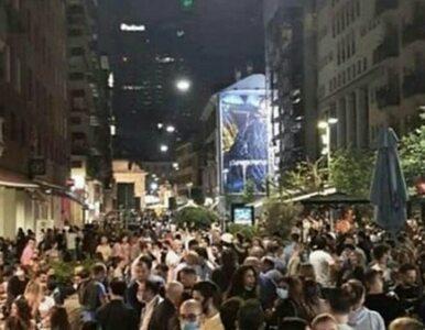 """""""Zbiorowe szaleństwo"""" na ulicach włoskich miast. Policja wystawiła setki..."""