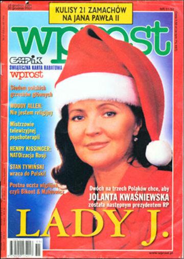 Okładka tygodnika Wprost nr 51/52/2001 (995)