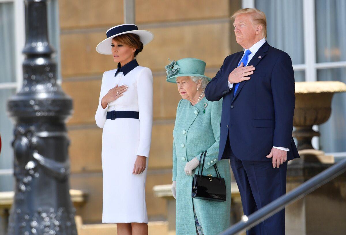 Melania Trump, królowa Elżbieta, Donald Trump