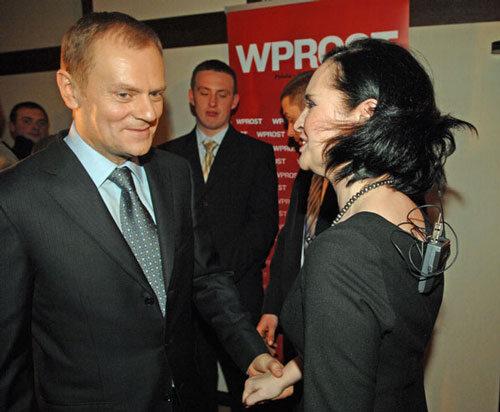 Człowiek Roku 2008 - Donald Tusk i Jolanta Fajkowska