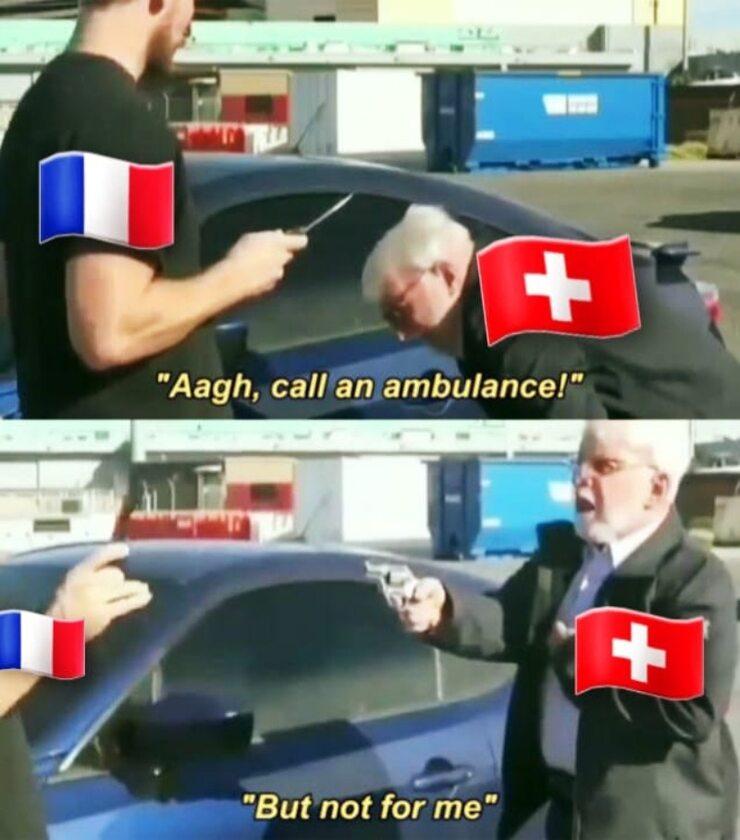 Mem po meczu Szwajcarii z Francją