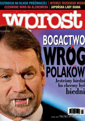 Okładka tygodnika Wprost nr 38/2004 (1138)