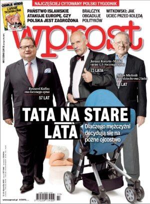 Okładka tygodnika Wprost nr 3/2015 (1662)