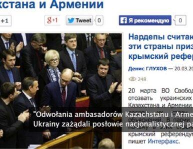 Dyplomatyczna wojna Ukrainy z Kazachstanem i Armenią