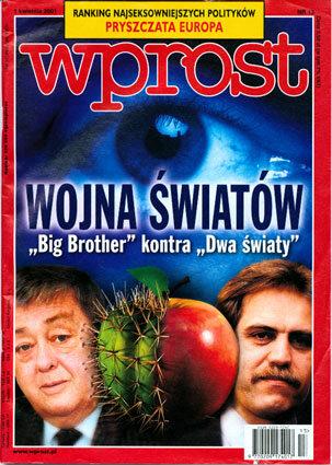 Okładka tygodnika Wprost nr 13/2001 (957)