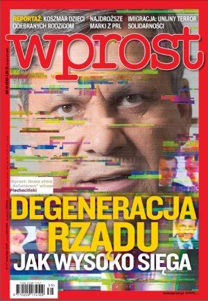 Okładka tygodnika Wprost nr 39/2015 (1698)