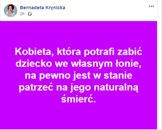 Wpis Bernadetty Krynickiej