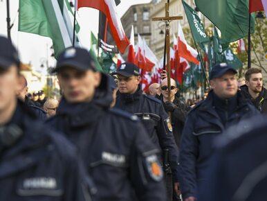 """Policja tłumaczy się z interwencji podczas marszu ONR. """"Podjęto..."""