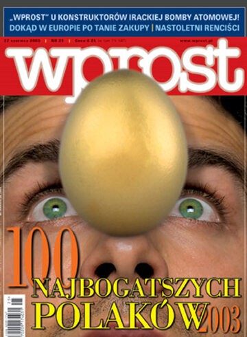 Okładka tygodnika Wprost nr 25/2003 (1073)