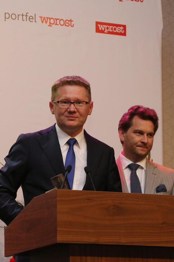 Prezes Zarządu Getin Noble Bank - Krzysztof Rosiński oraz Michał M. Lisiecki - Wydawca Wprost