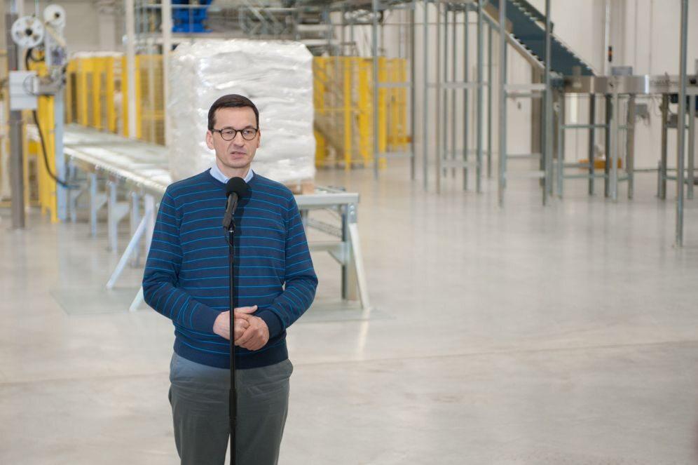 Premier Mateusz Morawiecki w zakładzie Mlekovity