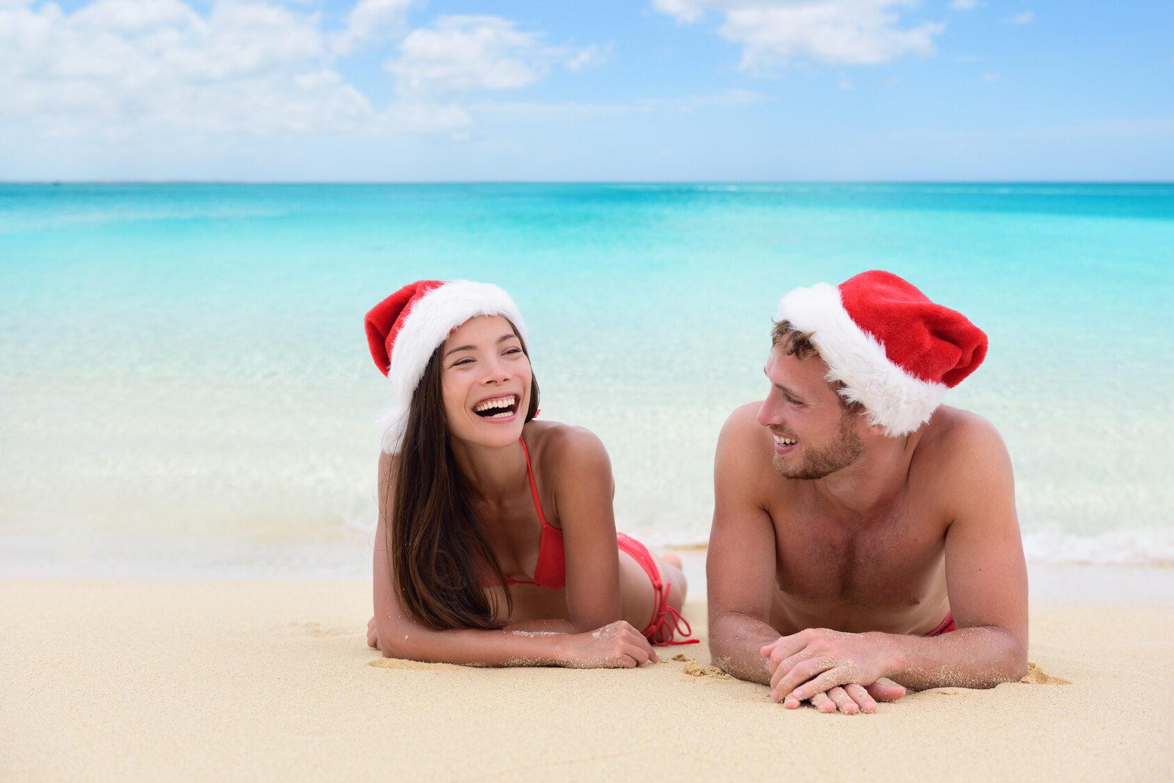 Spędzanie Bożego Narodzenia z bliskimi na plaży to domena...