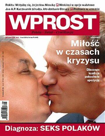 Okładka tygodnika Wprost nr 8/2009 (1363)