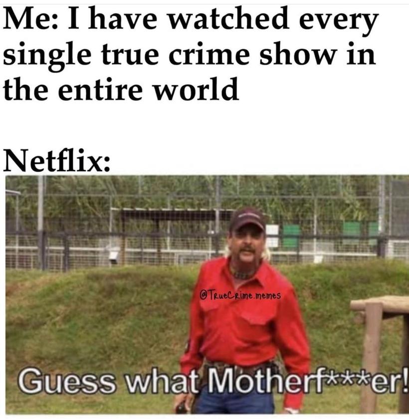 Ja: Obejrzałem każdy dokument o prawdziwych zbrodniach na Netfliksie/Netflix: Zgadnij co!