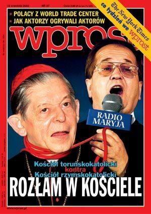 Okładka tygodnika Wprost nr 37/2002 (1033)