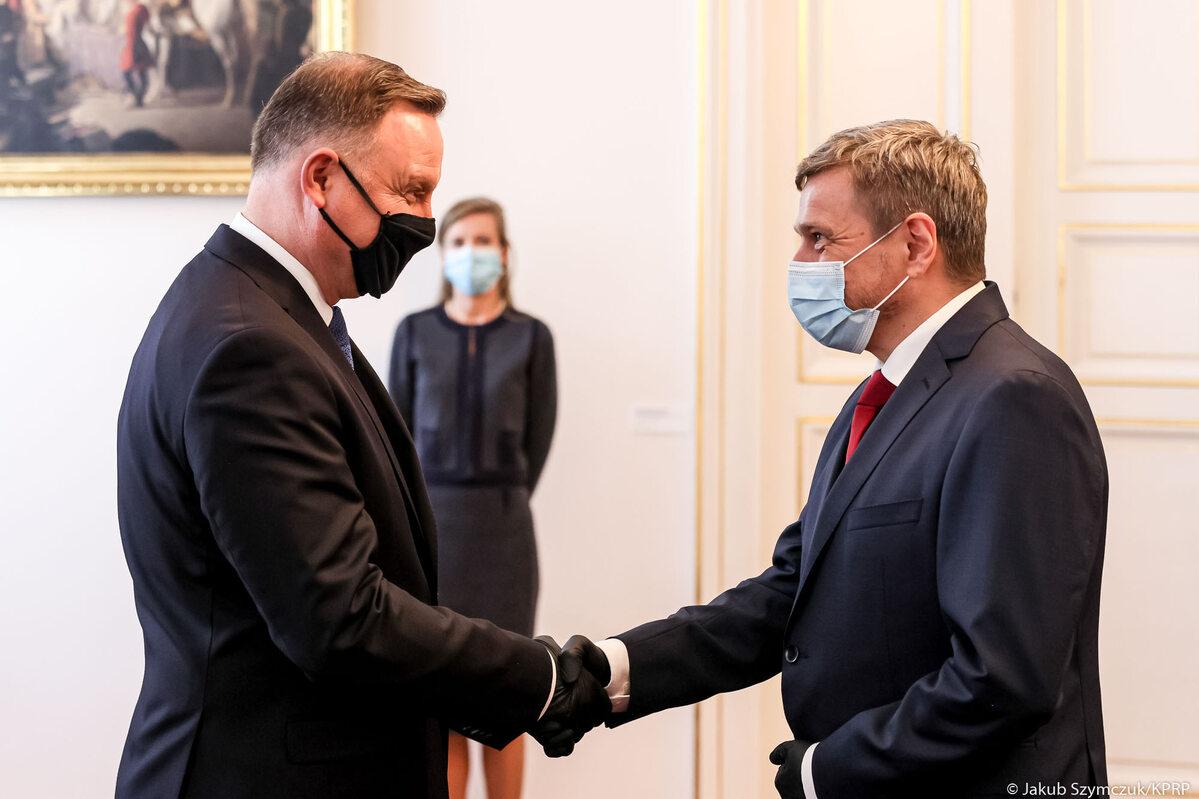 Andrzej Duda i ambasador Królestwa Danii w RP
