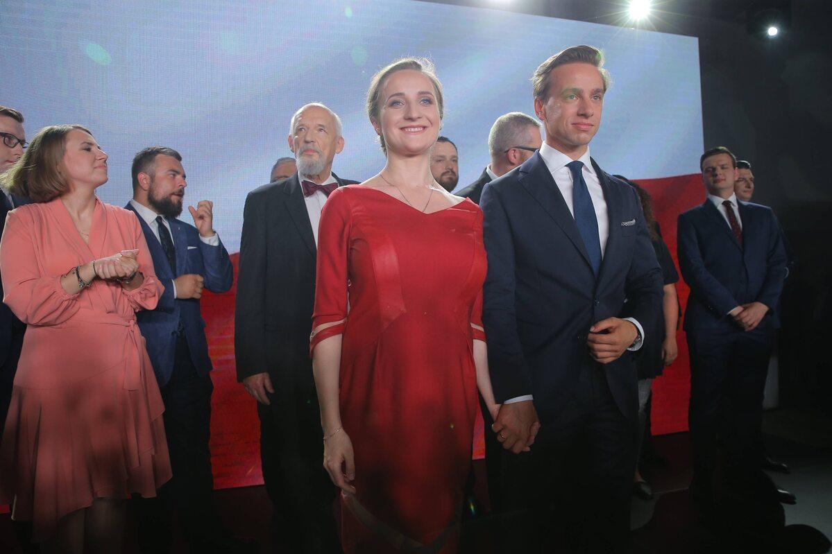 Wieczór wyborczy w sztabie Krzysztofa Bosaka