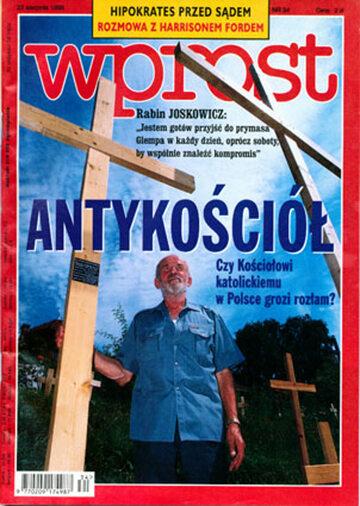 Okładka tygodnika Wprost nr 34/1998 (821)