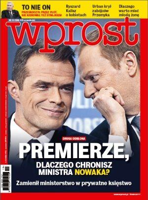 Okładka tygodnika Wprost nr 19/2013 (1576)