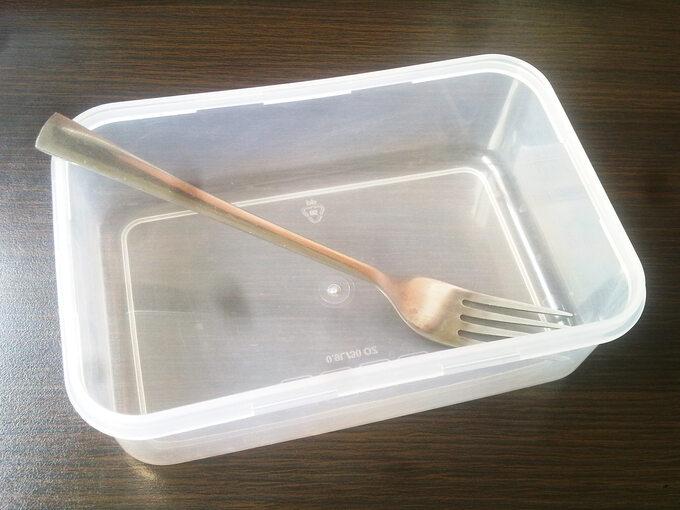 Naczynie plastikowe pokorpo gulaszu zszynki wieprzowej nakaszy gryczanej!