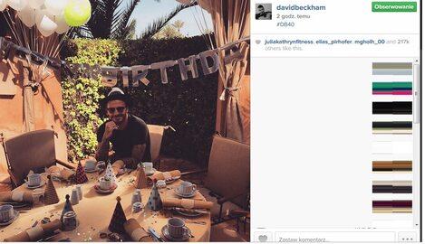 David Beckham ma 40 lat. Świętuje na Instagramie