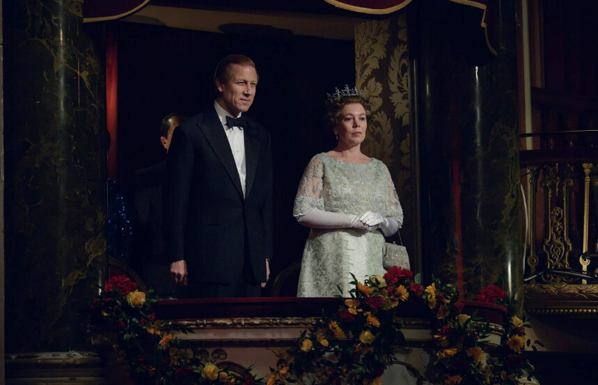"Scena z czwartego sezonu ""The Crown"""