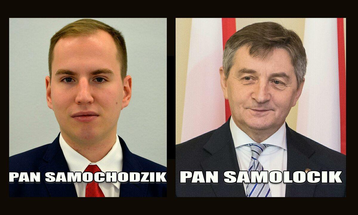 Mem z Adamem Andruszkiewiczem i Markiem Kuchcińskim