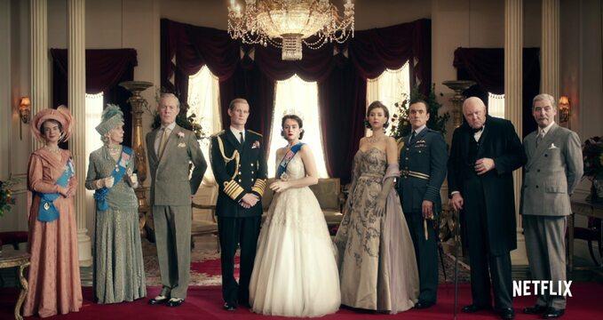 "kadr zserialu ""The Crown"" (2016)"