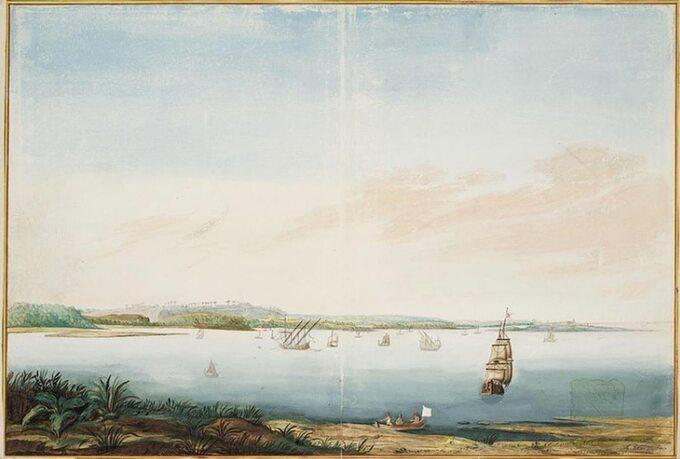 Wyspa Itamaraca, obraz zXVII wieku