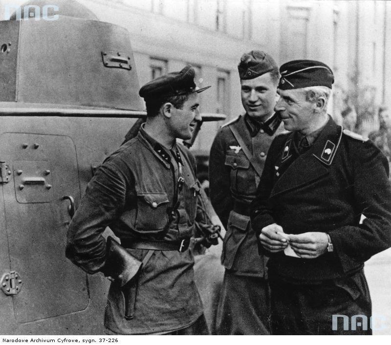 Niemieccy i sowieccy pancerniacy