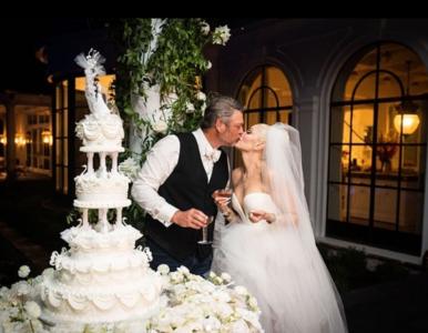 Gwen Stefani i Blake Shelton wzięli ślub. Jak wyglądała gwiazda?