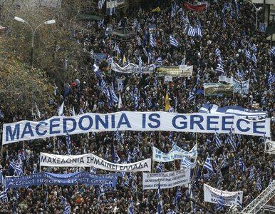 """Tysiące Greków demonstrują w Atenach. """"Ręce precz od Macedonii"""""""