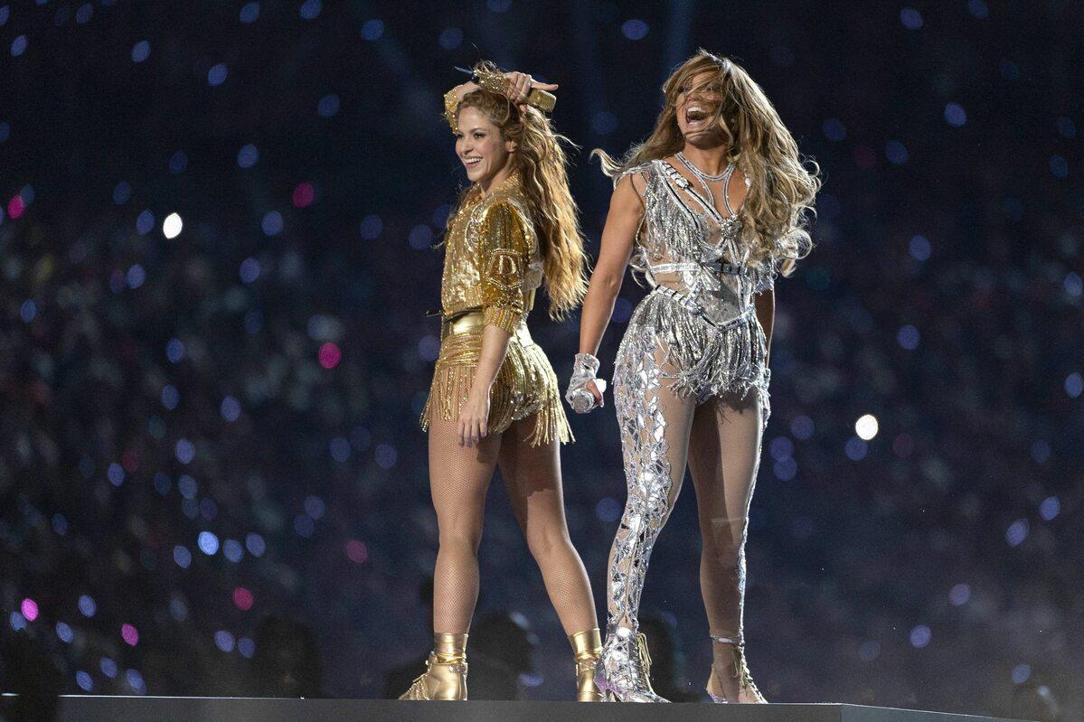 Shakira i J. Lo w trakcie Super Bowl 2020