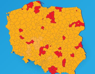 38 miast i powiatów w czerwonej strefie. Oto aktualna lista