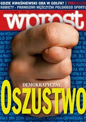 Okładka tygodnika Wprost nr 40/2005 (1192)