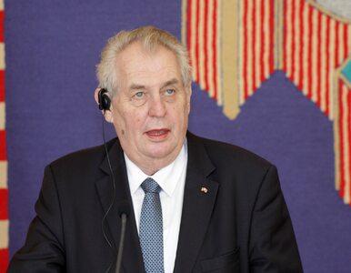 Na absurdalnej konferencji prezydenta Czech płonęła bielizna....