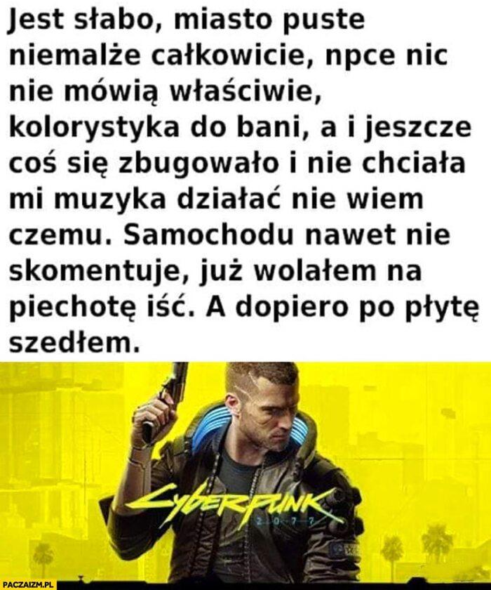 Mem po premierze Cyberpunka 2077