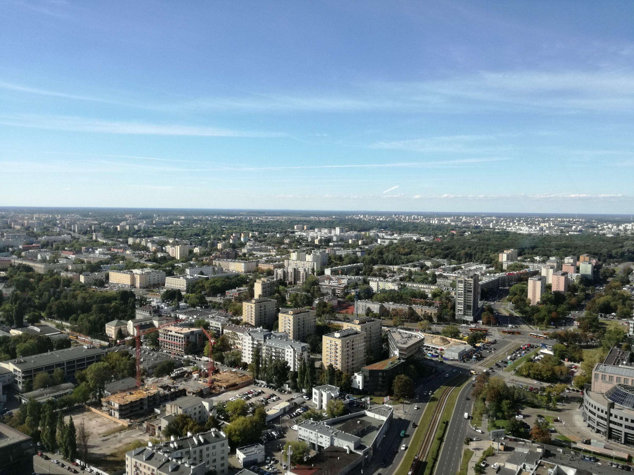 Widok z Warsaw Spire 6 września 2016 roku
