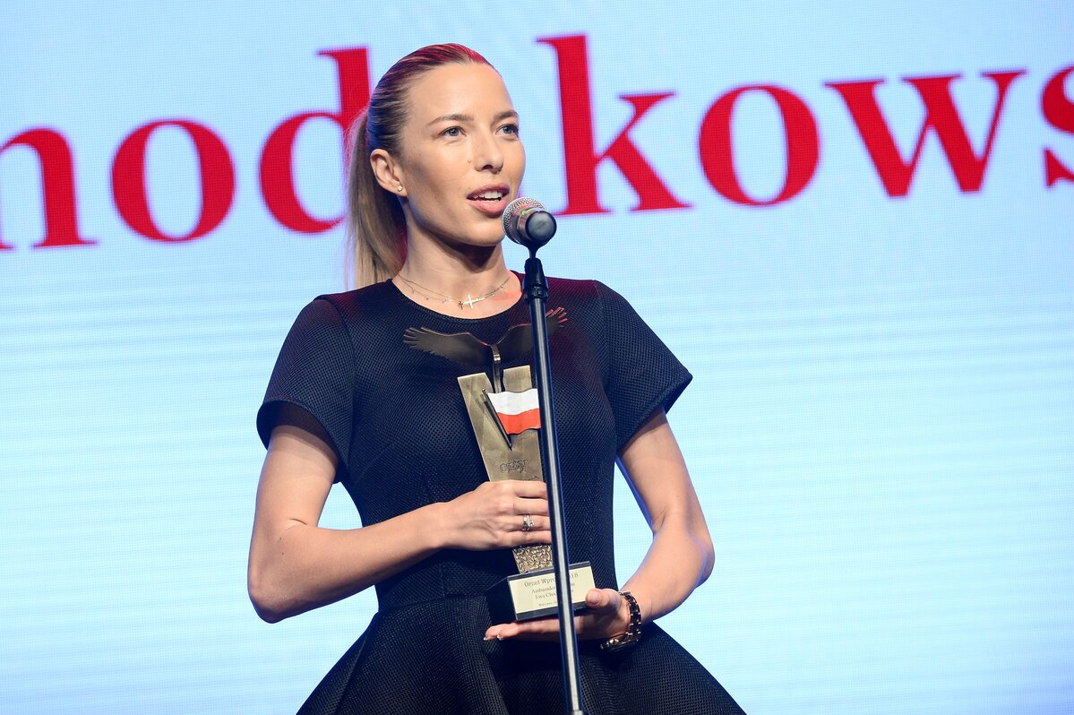 """Ewa Chodakowska z Orłem """"Wprost"""""""