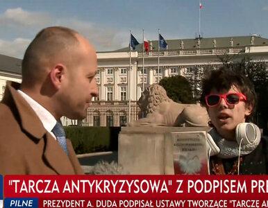 """Przerwał dziennikarzowi TVP i mówił do kamery. """"Cały czas kłamiecie"""""""